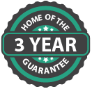 Home of the 3 Year Guarantee